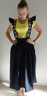 Sukne - Šatová maľovaná sukňa - 10597980_