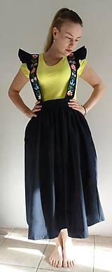 Sukne - Šatová maľovaná sukňa - 10597981_