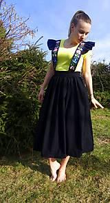 Sukne - Šatová maľovaná sukňa - 10597983_