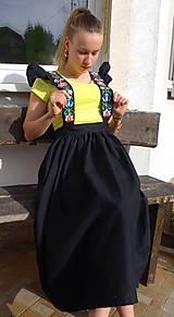 Sukne - Šatová maľovaná sukňa - 10597984_