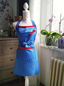 Iné oblečenie - Retro kuchynská zásterka (vintage kvety) - 10599877_
