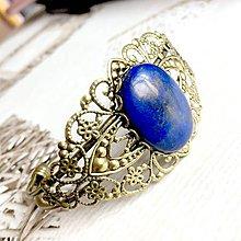 Náramky - Vintage Lapis Lazuli / Náramok s lazuritom v bronzovom prevedení #2064 - 10600113_