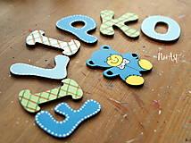 Tabuľky - Drevené písmenká FILIPKO - 10600868_