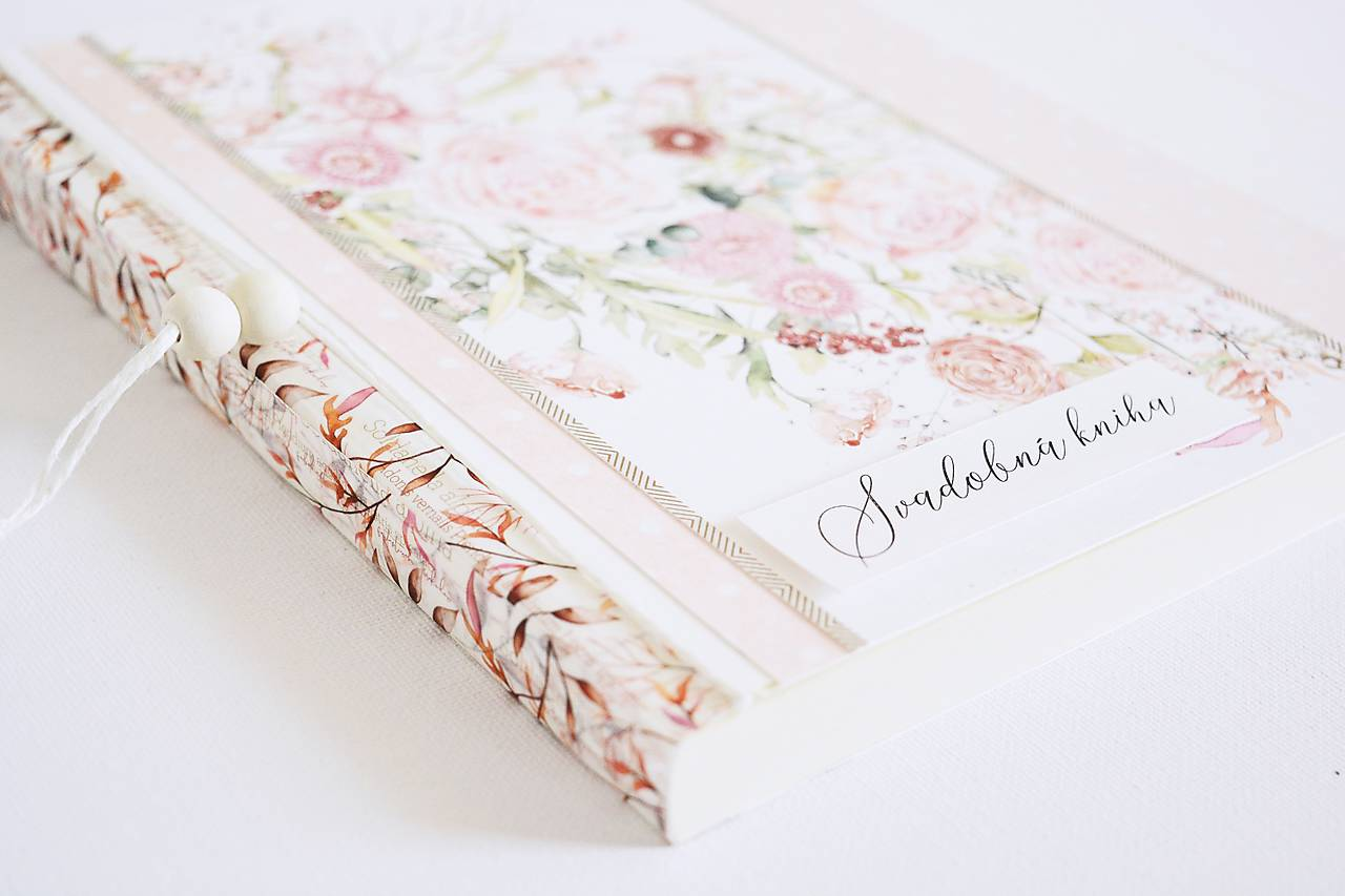 Svadobná kniha/album 2v1 - kvety