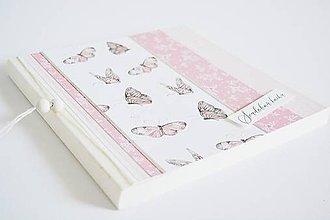 Papiernictvo - Svadobná kniha/album 2v1 - motýle - 10601864_