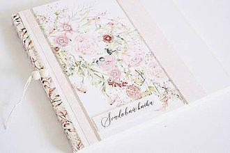 Papiernictvo - Svadobná kniha/album 2v1 - kvety - 10601873_