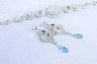 Sady šperkov - šitá sada šperkov Z NEBA UKROJENÉ (aquamarín Ag 925) - 10599942_