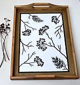 Nádoby - Drevený podnos-ručne maľovaný - 10601966_