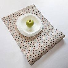 Úžitkový textil - Štóla/obrus - Vtáčik na béžovej n.2 - 10601383_