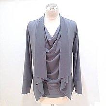 Kabáty - Krátky KARDIGAN BLEDOŠEDÝ / rôzne farby - 10599067_
