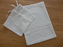 Úžitkový textil - Ľanové vrecúška - 10600906_