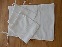 Úžitkový textil - Ľanové vrecúška - 10600907_