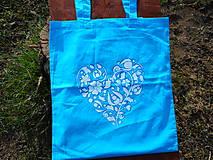 Nákupné tašky - blue harmony and white heart-ekotaška - 10602491_