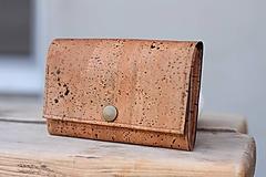 Peňaženky - Korková peňaženka M tabacco - 10602061_