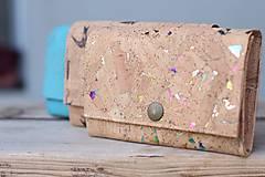 - Korková peňaženka M kde tu dúha - 10602139_