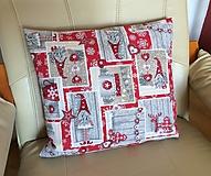 Úžitkový textil - vianočný vankúšik - 10601332_