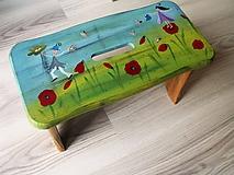 Nábytok - Ty si obloha... maľovaný šamlík - 10600033_