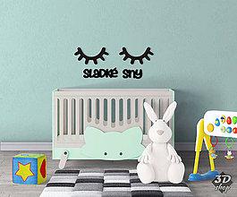Dekorácie - 3D spiace očká - sladké sny - 10601144_