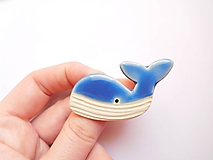 Odznaky/Brošne - brošňa veľryba - 10600155_