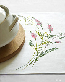 Úžitkový textil - Maľované prestieranie (štóla) ružové kvietky - 10601076_