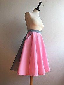 Sukne - dvojfarebná sukňa s vreckami - 10602135_