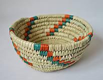 Košíky - Easter woven bowl| Pletený palmový kôšík - 10602764_