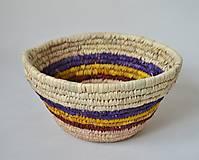 Košíky - Blue fruits woven plate | Pletený palmový kôšík - 10602807_