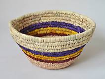 Košíky - Blue fruits woven plate | Pletený palmový kôšík - 10602808_