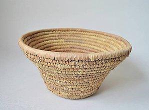 Košíky - Big woven bowl | Pletený palmový kôšík - 10602790_
