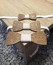 Detské doplnky - Set drevených motýlikov (3 ks.) - 10599931_