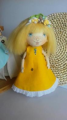 Hračky - Priateľky do kabelky. Textilná bábika - Slniečko - 10600848_