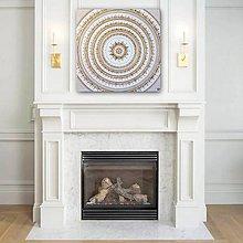 Obrazy - Mandala NOVÉ ZAČIATKY (gold) 60 x 60 - 10602114_