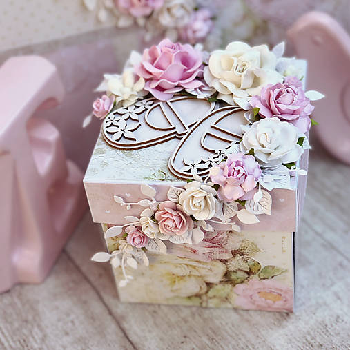 Exploding box- darčeková krabička