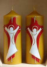 Svietidlá a sviečky - Sviečky z včelieho vosku - oltárne - 10599303_