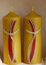 Svietidlá a sviečky - Sviečky z včelieho vosku - oltárne - 10599305_