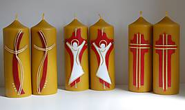 Svietidlá a sviečky - Sviečky z včelieho vosku - oltárne - 10599307_