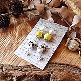 Náušnice - Pestré náušnice, keramické srdcia so žltou, čiernou, perleť, striebro - 10601668_