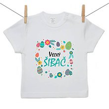 Detské oblečenie - Originálne Veľkonočné tričko Veľký šibač - 10599565_