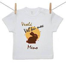 Detské oblečenie - Originálne Veľkonočné tričko Veselú Veľkú noc s menom dieťatka - 10599604_