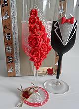 Darčeky pre svadobčanov - Svadobné poháre 2 - 10601813_