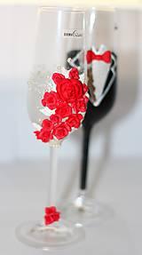 Darčeky pre svadobčanov - Svadobné poháre 7 - 10601839_