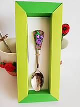 Drobnosti - Lyžička - fialové ruže- - 10602182_