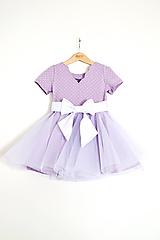 Šaty - točivé šaty JULIET lila - 10599659_