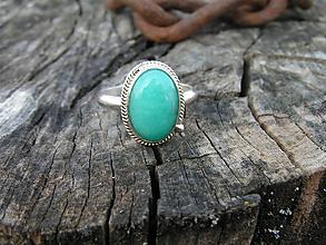 Prstene - Strieborny prsteň Ag925 Amazonit - 10601558_