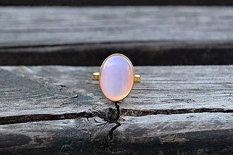 Prstene - Opál pozlátený prsteň Ag - 10601804_