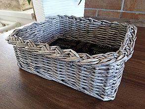 Košíky - Jednoduchý sivý košík Sweet home - 10601070_