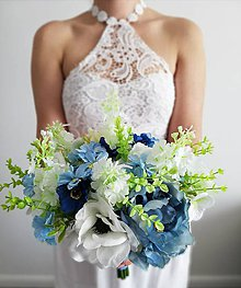 Kytice pre nevestu - Kytica modrá ruža - 10602400_