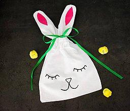 Úžitkový textil - Veľkonočné vrecúško s ušami - 10600798_