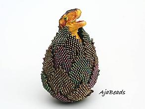 Dekorácie - Vajce - dinosaurus - 10599990_