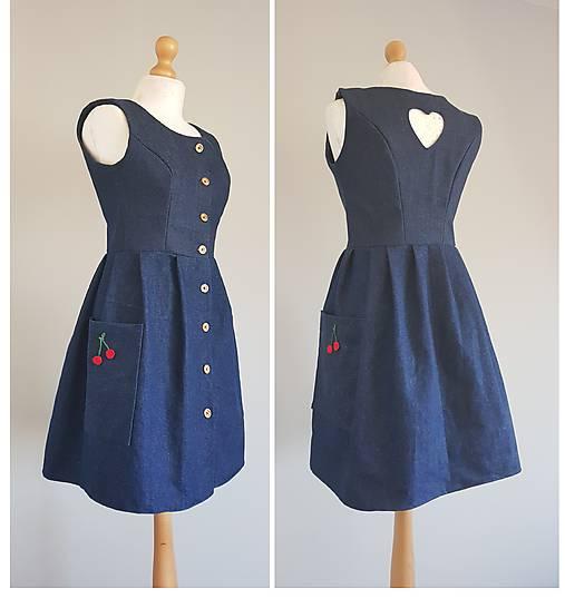 41340fda2 Retro/Vintage šaty na gobíky / MadebyIanka - SAShE.sk - Handmade Šaty